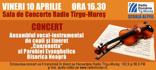 Concert de muzică sacră la Radio Târgu-Mureş