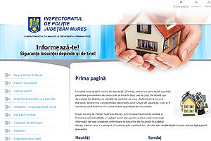 Site-ul poliţiei mureşene privind siguranţa locuinţei este considerat un succes, încă din prima lună de funcţionare .