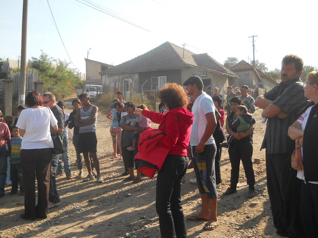 Scandal la Târgu Mureş pe tema mutării romilor dintr-o parte în alta a oraşului.