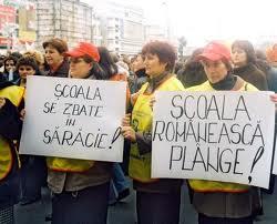 Peste 200 de cadre didactice vor protesta, astăzi, în faţa sediului Ministerului Educaţiei din Bucureşti, cerând în principal alocarea a 6% din PIB pentru învăţământ
