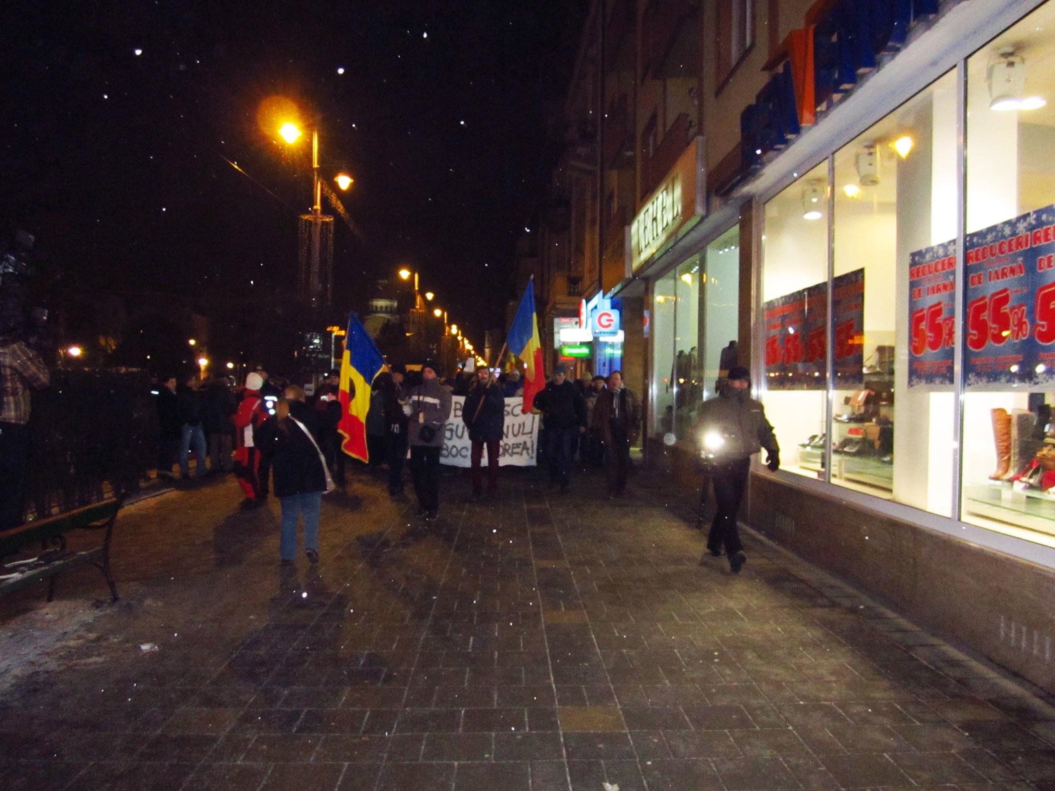 Protestul de la Tg.Mureş s-a încheiat în urmă cu două ore.