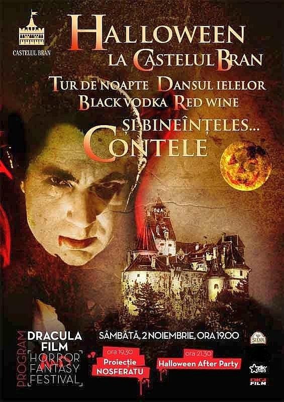 Contele Dracula vă invită, azi, la o petrecere de Halloween la Castelul Bran