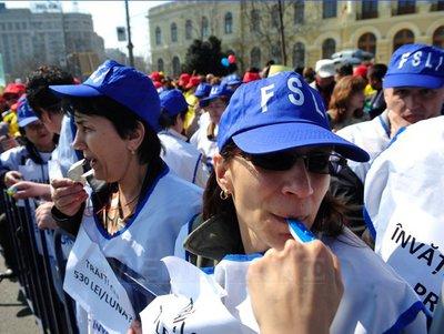 Proteste ale sindicaliştilor din învăţământ astăzi în capitală
