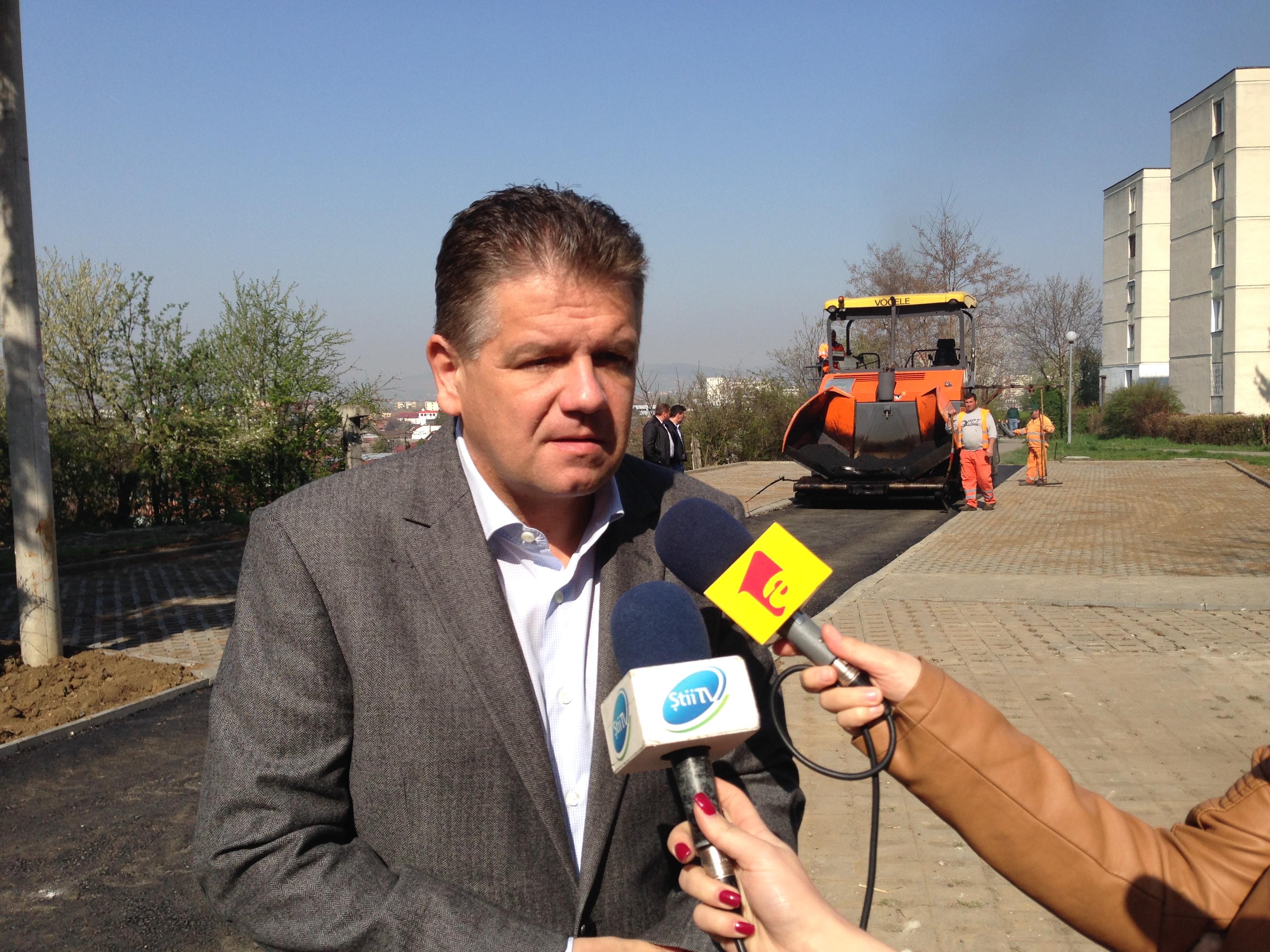 Lucrările din cartierul Dâmbul Pietros din Tîrgu-Mureş se vor finaliza până la sfârşitul lunii