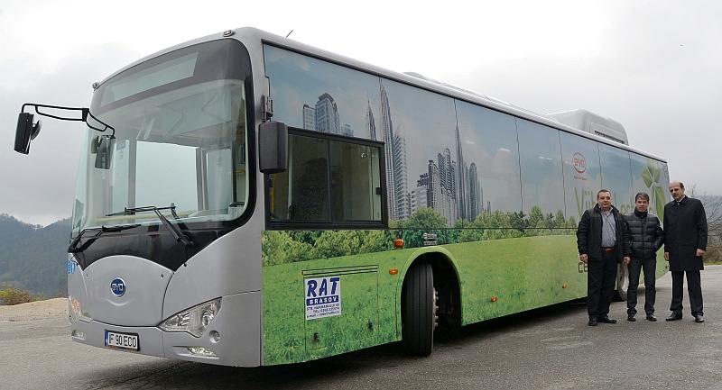 La Braşov a fost testat primul autobuz electric