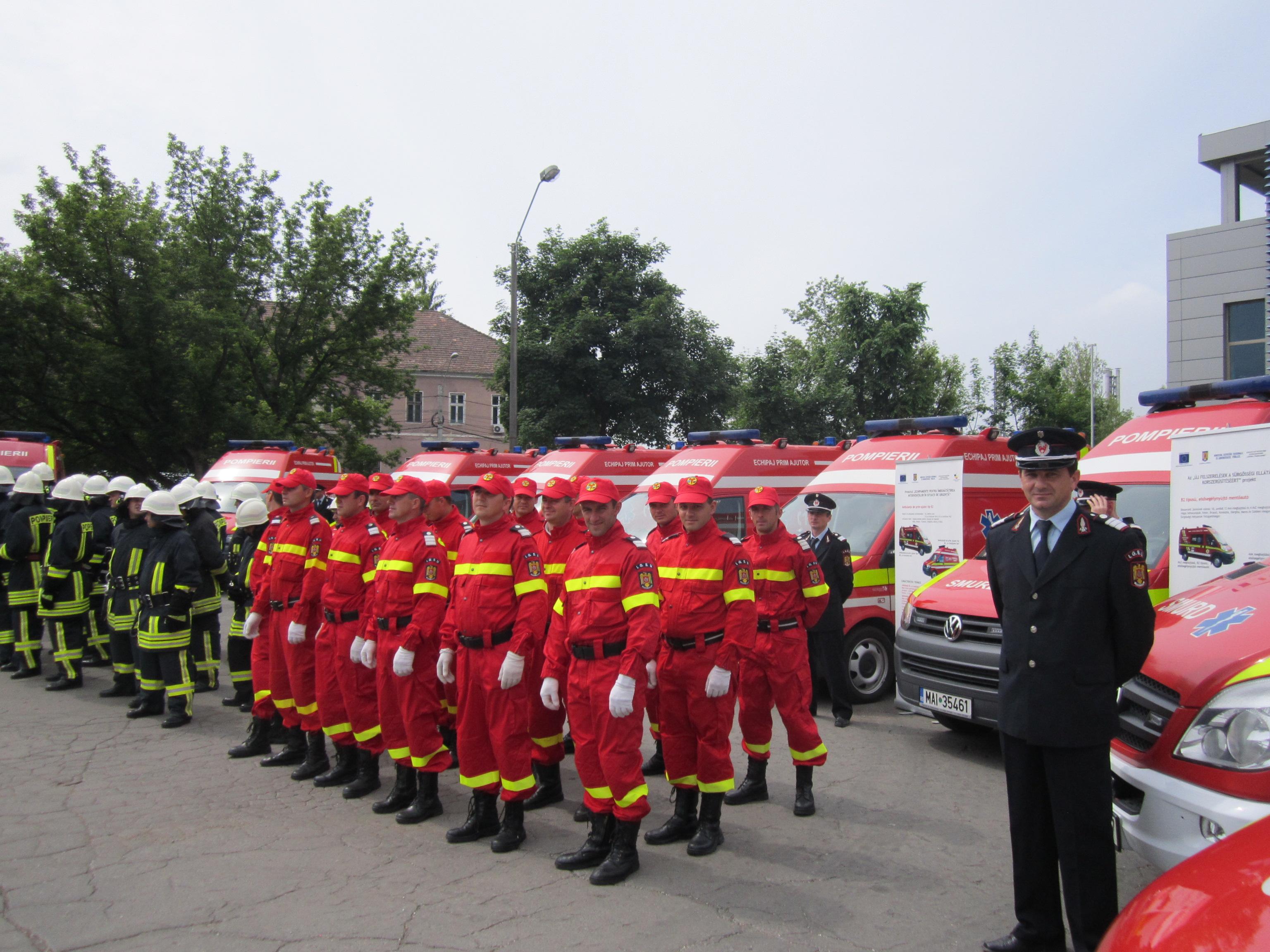 Astăzi a avut loc, la Tîrgu-Mureş, recepţia echipamentelor de intervenţie în situaţii de urgenţă