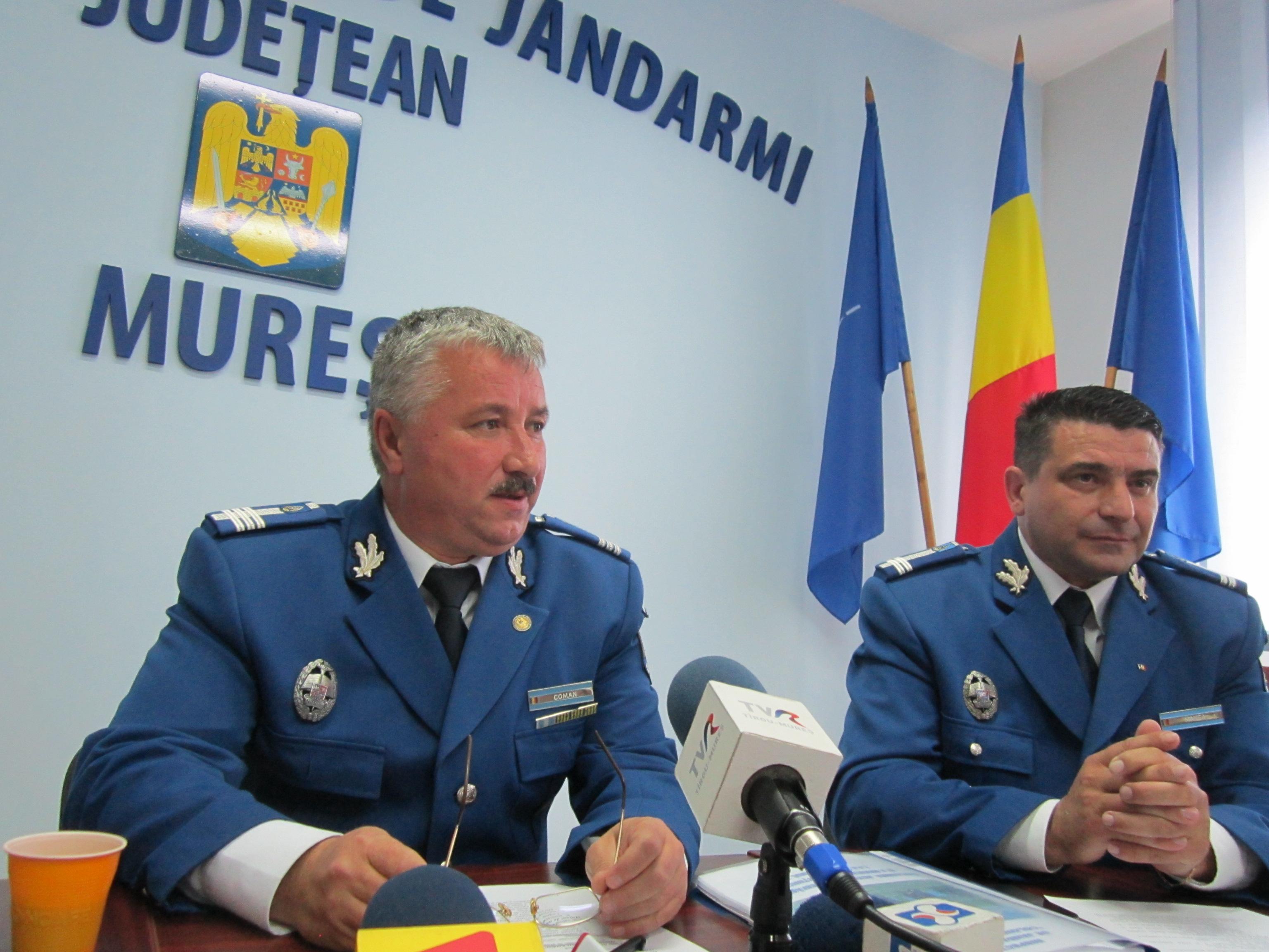 Jandarmeria Mureş funcţionează doar cu 27% din necesarul de maşini