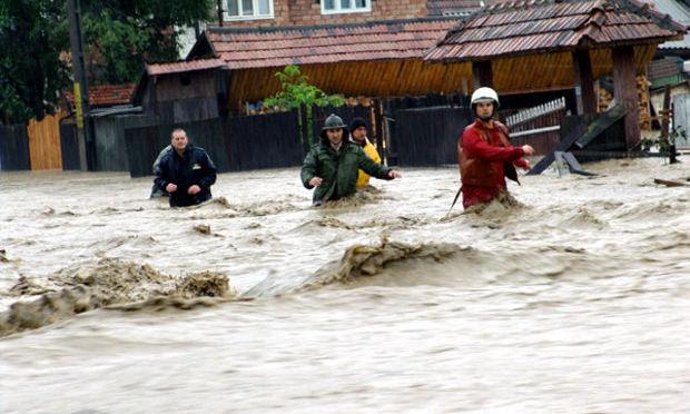 Inundaţii în două localităţi din Harghita
