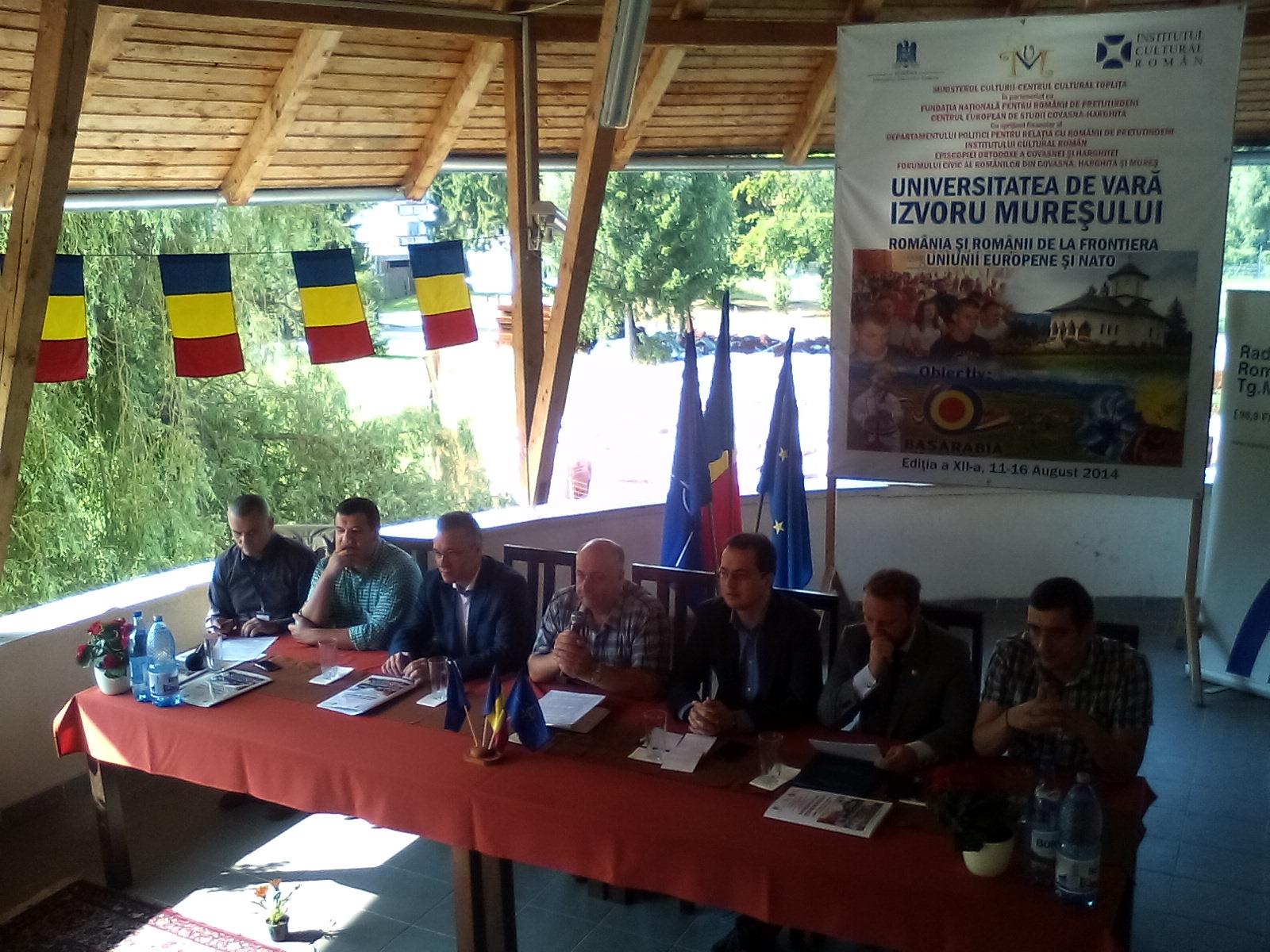 Participanţii la Universitatea de vară de la Izvoru Mureşului au adoptat, ieri, la finalul dezbaterilor, un apel comun, adresat autorităţilor centrale, Preşedinţiei, Parlamentului şi Guvernului şi candidaţilor la alegerile prezidenţiale