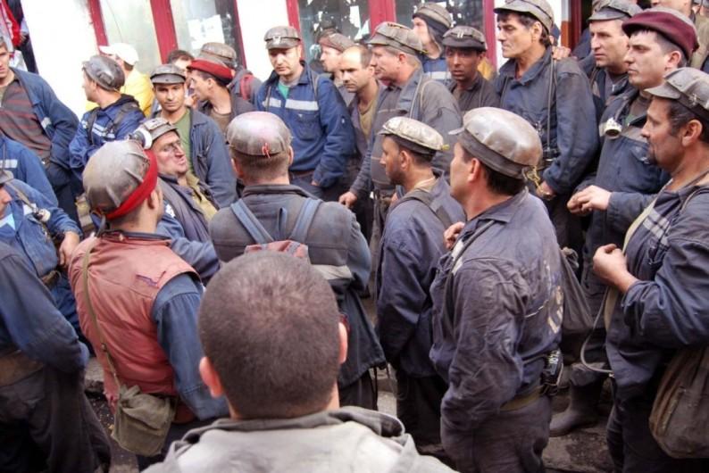 Protest spontan la Mina Lonea din Valea Jiului