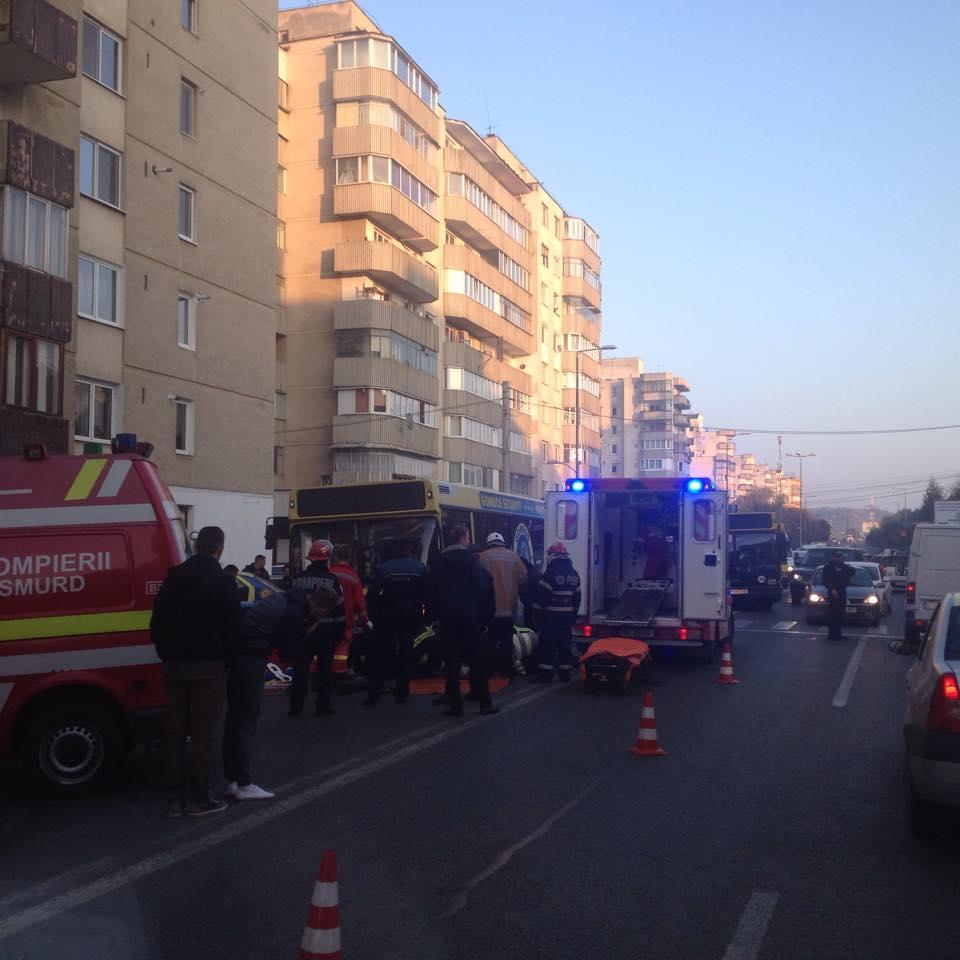UPDATE O femeie a fost lovită de un autobuz, în această seară, în Tîrgu-Mureş