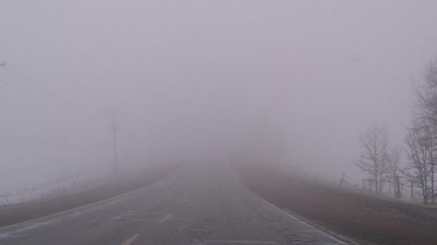 Cod galben de ceaţă în Braşov şi Harghita