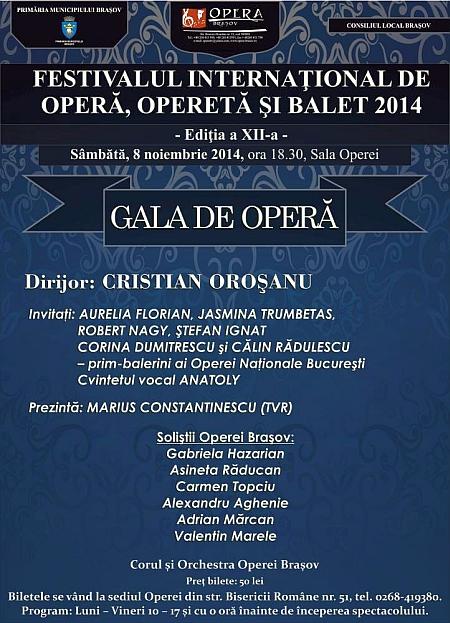 Gală de operă, la Brașov