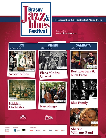 Trei zile de blues și jazz, la Brașov