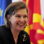 File photo of former U.S. ambassador to NATO Nuland visiting Skopje