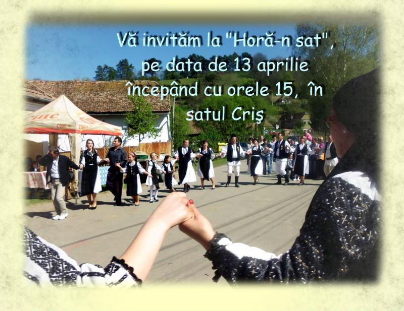 Invitatie la Hora-n sat-Cris