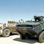 tranzit coloană de maşini militare'