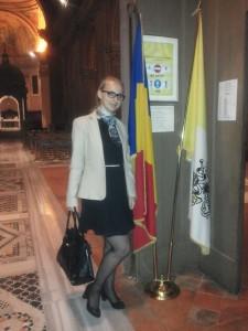 Roxana Mihaly la Vatican