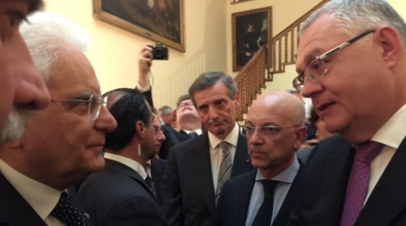 Președintele Italiei, Sergio Mattarella şi Președintele Director General al Societății Române de Radiodifuziune, Ovidiu Miculescu