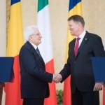 Preşedintele Klaus Iohannis s-a întâlnit, la Palatul Cotroceni, cu omologul său italian, Sergio Mattarella. Foto: Administraţia Prezidenţială