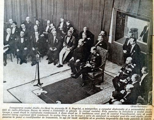 Regele Carol II ṣi N. Iorga, revista Radiofonia,1932, Arhiva scrisă a SRR