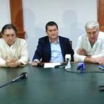 Foto: Nelly Suciu De la stânga la dreapta: dr. Tiberiu Bățagă, dr. Claudiu Puiac și dr. Andrei Nica