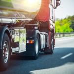 62488482 - euro semi truck on the highway. semi truck heavy duty transportation