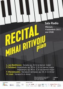 Afis Recital Mihai Ritivoiu