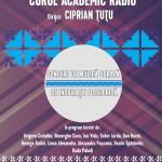 Afis concert Corul Academic Radio  23nov