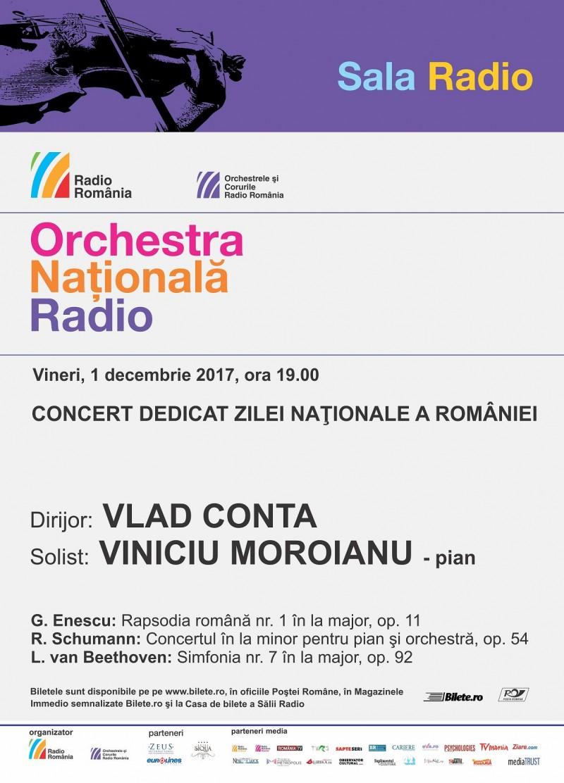 Afis concert ONR 1 decembrie