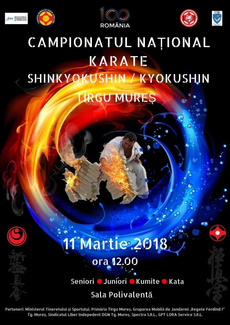CN karate kyokushin & shin kyokushin seniori și juniori, Tg.-Mureş, 11 martie (Tiger Budo Tg.-Mureş)
