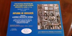 Diploma manager Nicoleta Ghisa