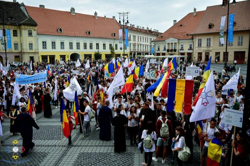 Sursa foto: Întâlnirea Internațională a Tinerilor Ortodocși - Sibiu 2018/facebook