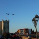 Formaţie de elicoptere în zbor de antrenament