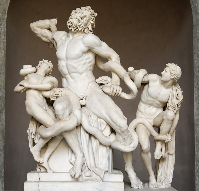14 ianuarie 1506 - ''Laocoon și fiii săi'', grup statuar descoperit lângă Roma (Foto: Hagesandros, Athenedoros, and Polydoros - Marie-Lan Nguyen, 2009, by upload.wikimedia.org)