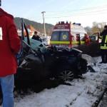 accident autoturism lovit de tren