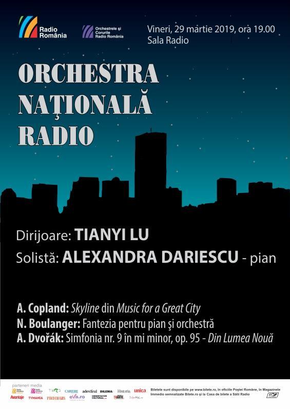 Afis Sala Radio 29 mar Tianyi Lu si Alexandra Dariescu