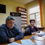 Doru Constantin si    Elida Deak Foto: Radio Tg.Mures /Cristina Bulbescu