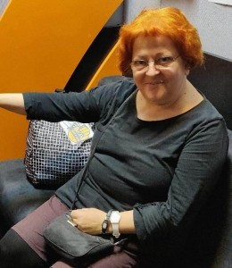 Lia Perjovschi in studioul rrc