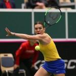 Romania, Fed Cup, Simona Halep (Sursa foto: facebook.com - Federația Română de Tenis) 3