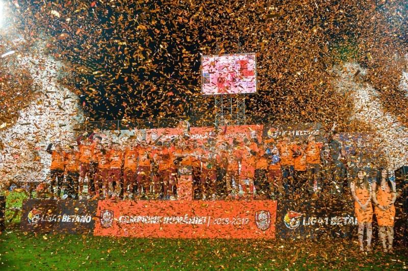 CFR Cluj, campioana României 2018-2019 (Sursa foto:  facebook.com - Fotbal Club CFR 1907 Cluj-Napoca)