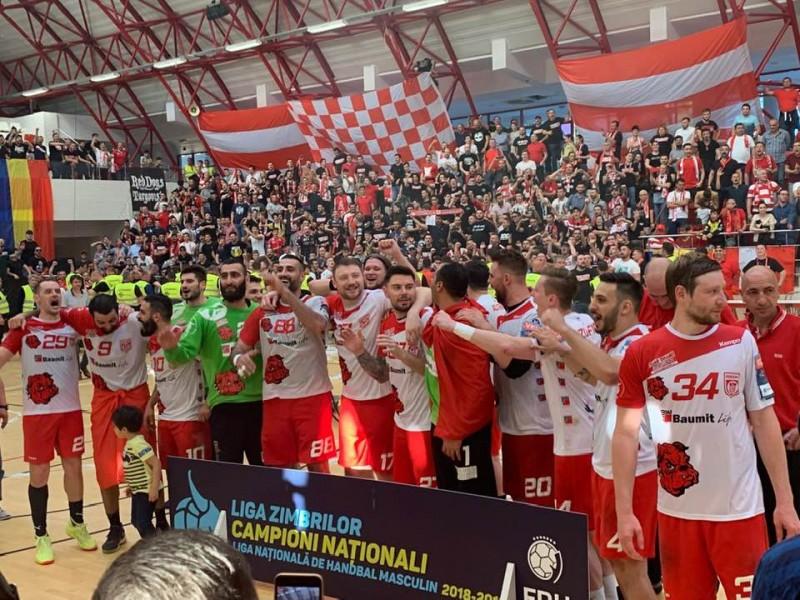 Dinamo București, campioana 2018-2019 la handbal masculin (Sursa foto: handbalmania.ro)