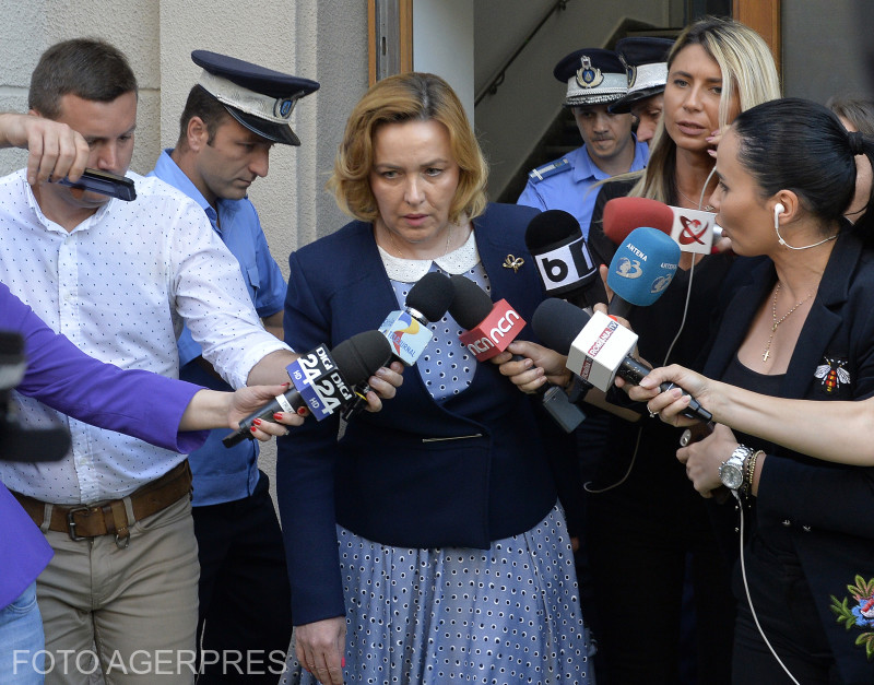 Carmen Dan, ministrul Afacerilor Interne, paraseste sediul DNA (Foto: ALEX TUDOR / AGERPRES)