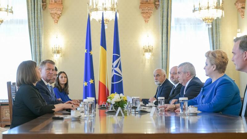 Consultări ALDE (Sursa foto: presidency.ro)