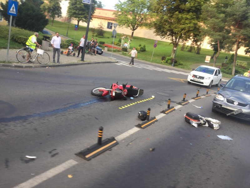 motociclis accidentat