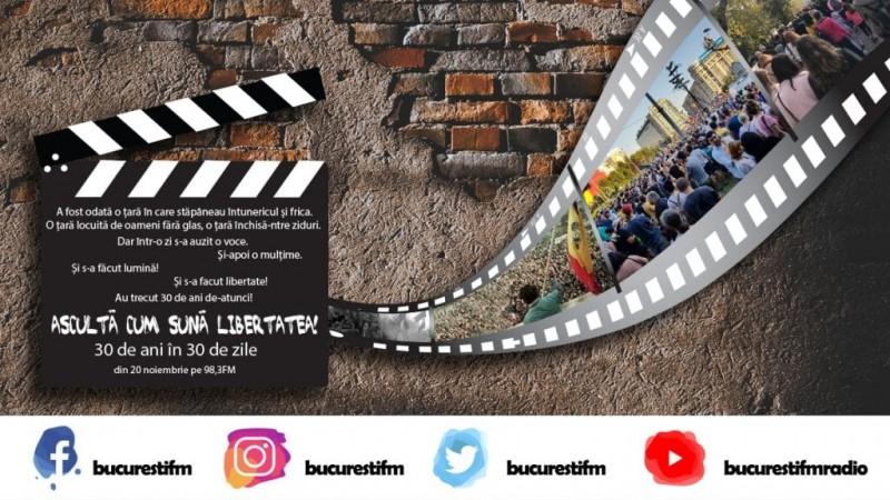 Ascultă cum sună libertatea! Un documentar marca Bucureşti FM