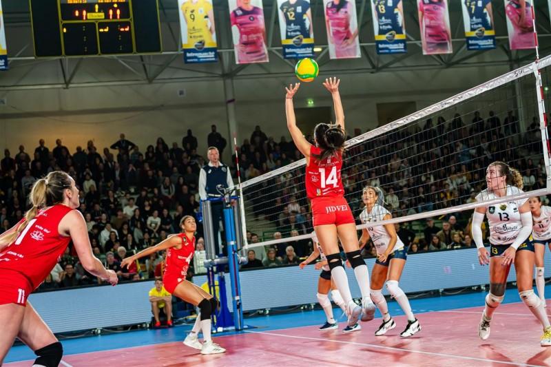 Nantes VB - Volei Alba Blaj, volei feminin 3-1 (Sursa foto: cev.eu)