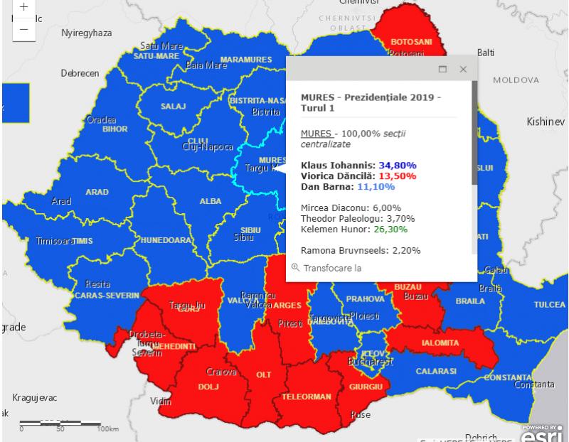 rezultate alegeri 2019 mures