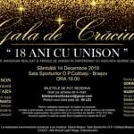 Gala de crăciun Brașov 18 ani Unison