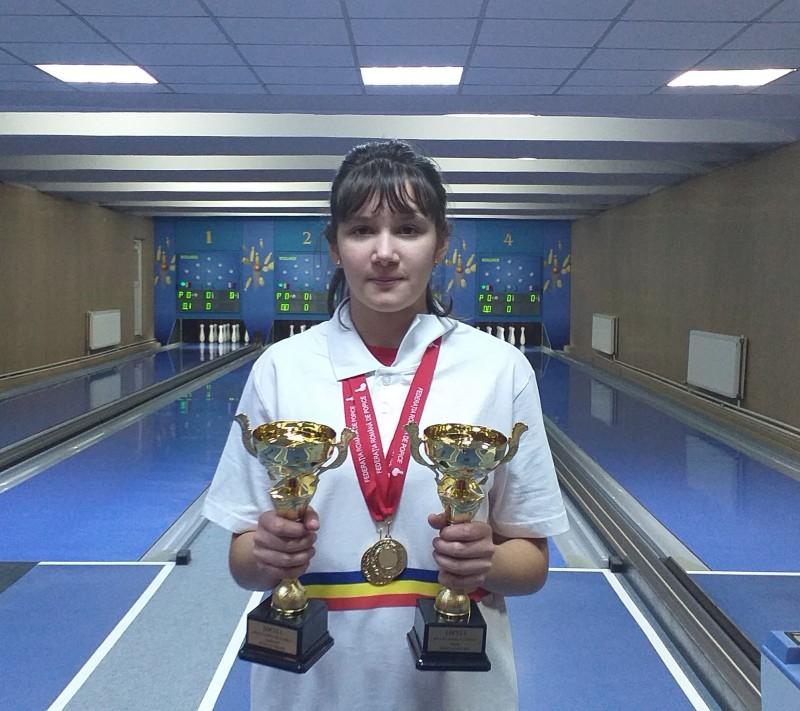 Roxana Andreea Bordianu, popice junioare CSM Tg.-Mureș, dublă campioană națională (Sursa foto: Antal Matilda)